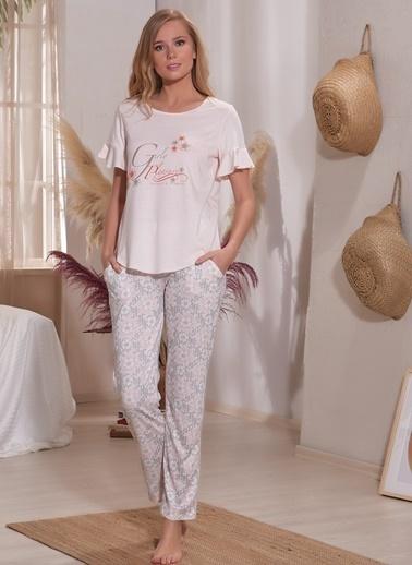 Sevim Pijama Takım Pudra